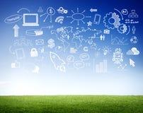全球性通信和技术概念 库存例证