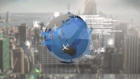 全球性通信和旅行 股票视频