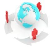 全球性通信 库存照片