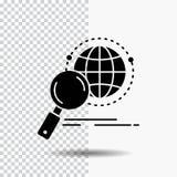 全球性,地球,放大器,研究,世界在透明背景的纵的沟纹象 ?? 库存例证
