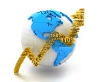 全球性finanical成长 免版税库存照片