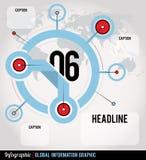 全球性Infographic 图库摄影