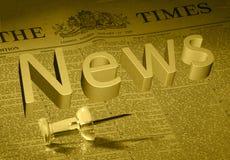 全球新闻 免版税库存图片