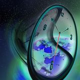 全球时间 库存例证