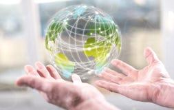 全球概念的连接数 免版税图库摄影