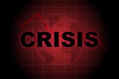 全球的危机 免版税图库摄影