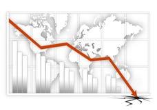 全球的危机 免版税库存照片