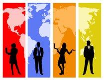 全球的商业 向量例证