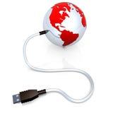 全球的数据 向量例证