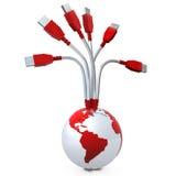 全球的数据 皇族释放例证