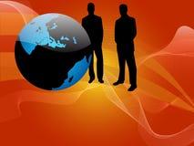 全球的生意人 库存例证