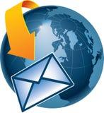 全球的电子邮件 向量例证