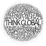 全球的设计认为 库存例证