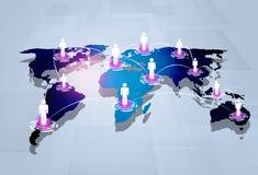 全球的连接数 库存照片