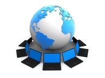 全球的通信 库存例证