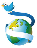 全球的鸟 免版税库存图片
