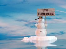 全球终止温暖 免版税库存照片
