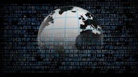 全球网络互联网连接 矩阵 107 皇族释放例证