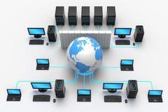 全球网络保护 免版税图库摄影
