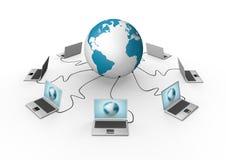 全球网络形象化架线了 库存照片