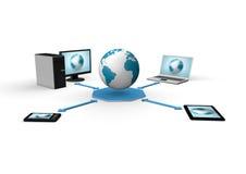 全球网络形象化 免版税库存照片