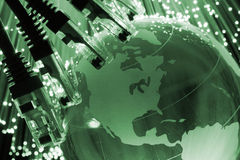 全球网络的电缆 免版税库存图片