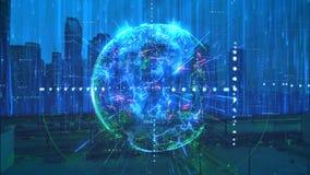全球网络行动动画背景 皇族释放例证