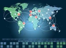 全球网络连接符号 免版税图库摄影