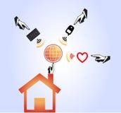全球网络抽象传染媒介例证设计  免版税库存照片