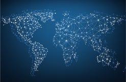全球网络滤网 地球Map.Save地球概念 免版税库存图片