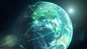 全球网络-绿色 库存例证