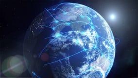 全球网络-蓝色 皇族释放例证