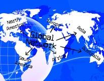 全球网络表明万维网通信并且沟通 库存照片