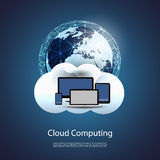全球网络,云彩计算-您的事务的例证 免版税图库摄影
