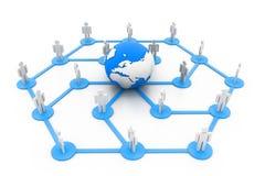 全球网络 库存照片