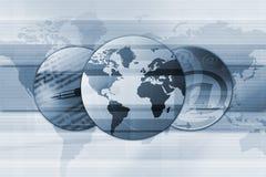 全球背景的电子邮件 免版税库存图片