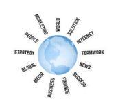 全球营业通讯的概念 免版税库存照片