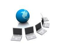 全球计算机网络 库存图片
