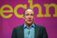 全球资讯网蒂姆・伯纳斯-李先生的发明者和创建者 图库摄影