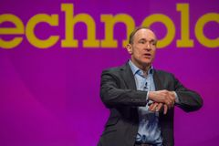 全球资讯网蒂姆・伯纳斯-李先生的发明者和创建者 库存图片