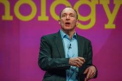 全球资讯网蒂姆・伯纳斯-李先生的发明者和创建者 免版税图库摄影