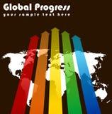全球进展 库存例证