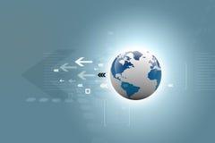 全球连接数。 数字式地球 库存照片