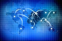 全球连接数 免版税库存图片