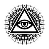 全看见眼睛上帝的眼睛 向量例证