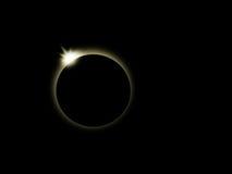 全蚀-太阳,月亮 免版税图库摄影