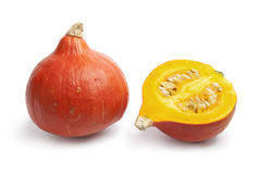 全部北海道橙色部分的南瓜 免版税图库摄影