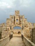 全部希腊掌握宫殿罗得斯 库存照片
