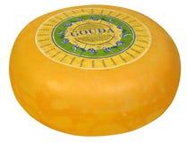 全部干酪的荷兰扁圆形干酪 免版税库存照片