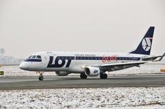 全部平面巴西航空工业公司170个SP-LII 免版税库存图片
